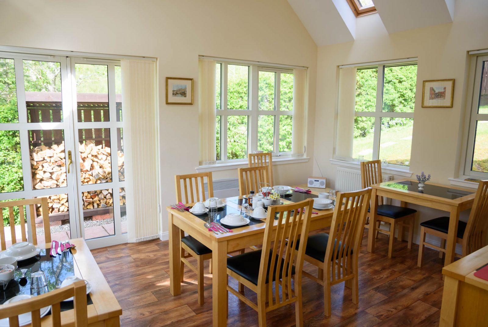 Breakfast room at Rose Cottage B&B